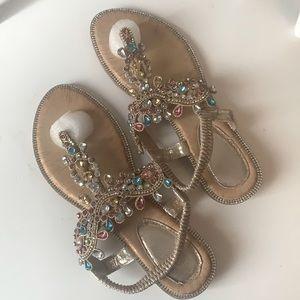 New Jewelled Metallic Sandals